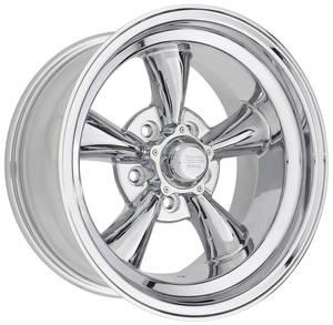 """1964-1973 LeMans Wheel, Torq-Thrust D Chrome 15"""" X 8-1/2"""" (3-3/4"""" B.S.) -24 mm Offset"""