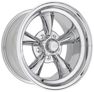 "1961-77 Cutlass Wheel, Torq-Thrust D Chrome 15"" X 8-1/2"" (3-3/4"" BS) -24 mm Offset, by American Racing"