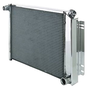 "1969-77 Bonneville Radiator, Aluminum 33"" X 19"" MT, Polished, by Be Cool"