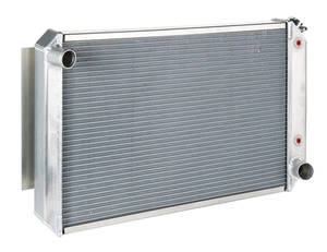"1978-1983 Malibu Radiator, Aluminum 19"" X 28"" X 2"" AT, Satin, by Be Cool"