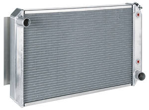 "1969-77 Bonneville Radiator, Aluminum 33"" X 19"" AT, Natural"