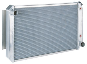 1968-73 GTO Radiator, Aluminum Polished Automatic