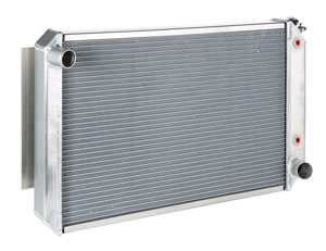 "1978-88 El Camino Radiator, Aluminum 19"" X 28"" X 2"" AT, Polished, by Be Cool"