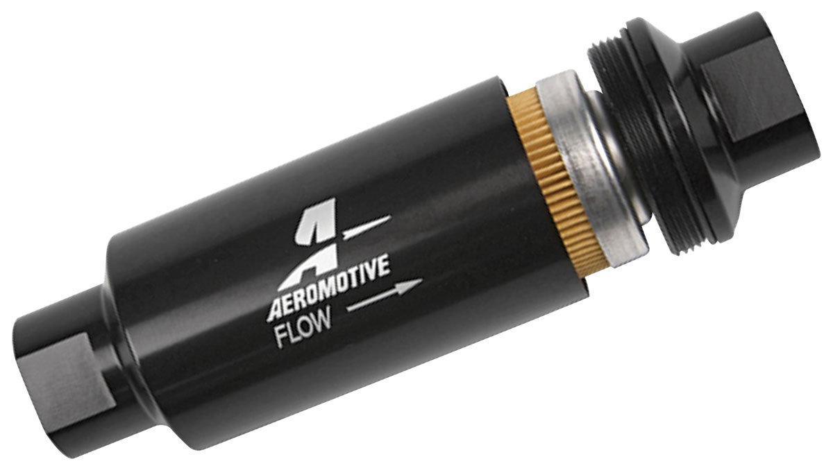 Photo of Fuel Filters, Aeromotive, In-Line 10 micron, black