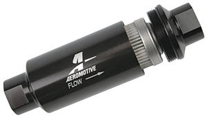 1959-76 Bonneville Fuel Filters, Aeromotive, In-Line 100 Micron, Black