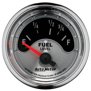 "Gauge, American Muscle Series 2-1/16"" Fuel Level (OHMS 73 Empty/10 Full), by Autometer"
