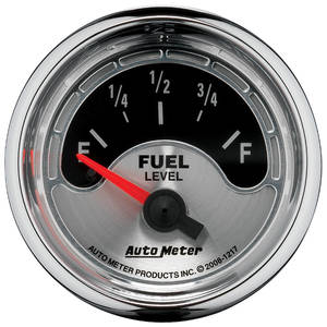 "1964-1973 GTO Gauge, American Muscle Series 2-1/16"" Fuel Level (OHMS 240 Empty/33 Full), by Autometer"