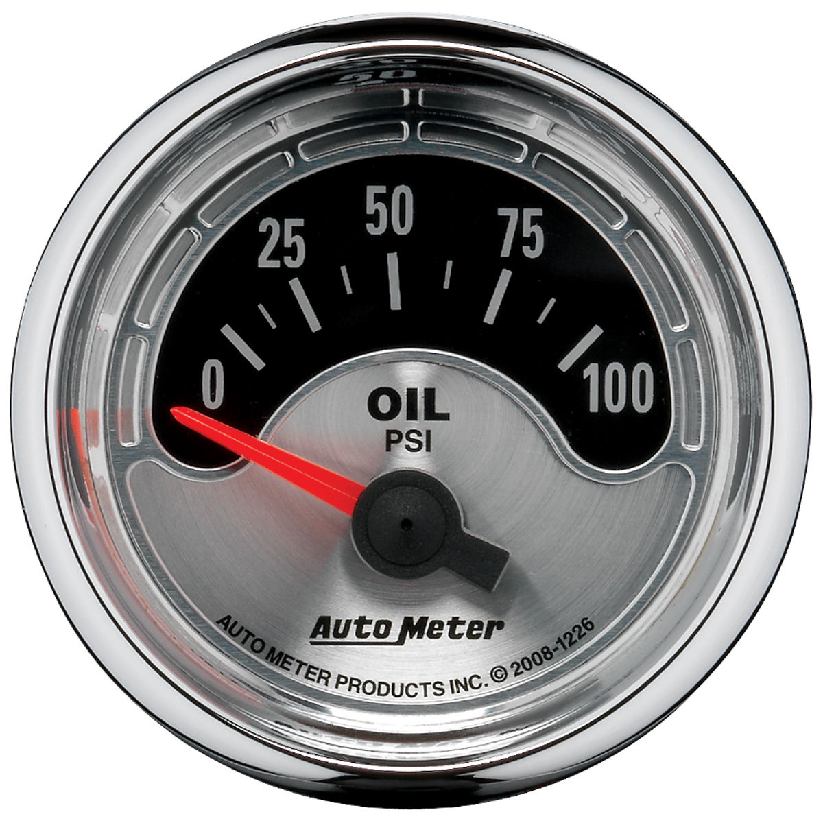 "Photo of Gauge, American Muscle Series 2-1/16"" oil pressure (0-100 psi)"