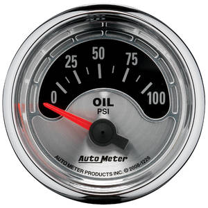"1978-1988 El Camino Gauge, American Muscle Series 2-1/16"" Oil Pressure (0-100 Psi), by Autometer"