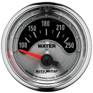 "Gauge, American Muscle Series 2-1/16"" Water Temperature (100°-250° Fahrenheit), by Autometer"
