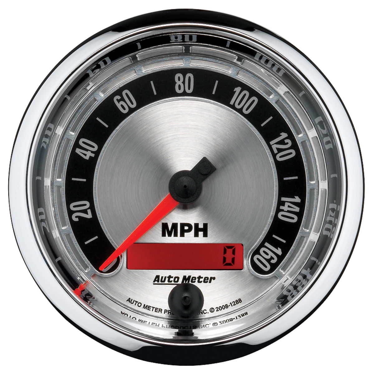 "Photo of Gauge, American Muscle Series 3-3/8"" electric speedo (programmable)"