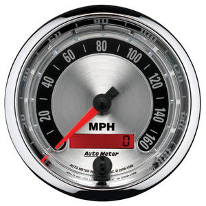 "Gauge, American Muscle Series 3-3/8"" Electric Speedo (Programmable)"