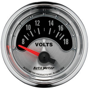 "Gauge, American Muscle Series 2-1/16"" Volt Meter (8-18 Volts)"