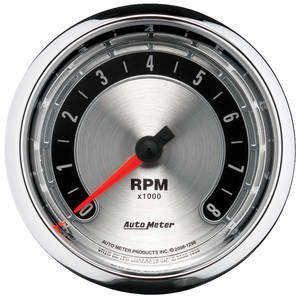 "Gauge, American Muscle Series 3-3/8"" Electric Tach, by Autometer"