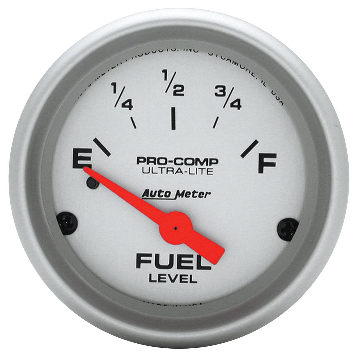 "Photo of Gauge, Ultra Lite Series (2"" Fuel Level - OHMS 0 Empty/90 Full) SSE, Late-Style"