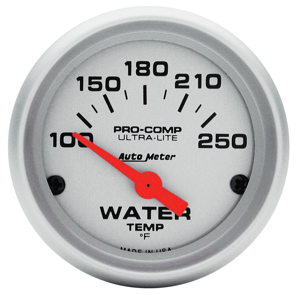 "Photo of Gauge, Ultra Lite Series 2"" Water Temp, 100-250°F"