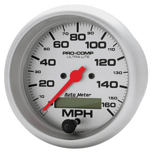 "1964-77 Chevelle Gauge, Ultra Lite Series 3-3/8"" Speedo, 160MPH"