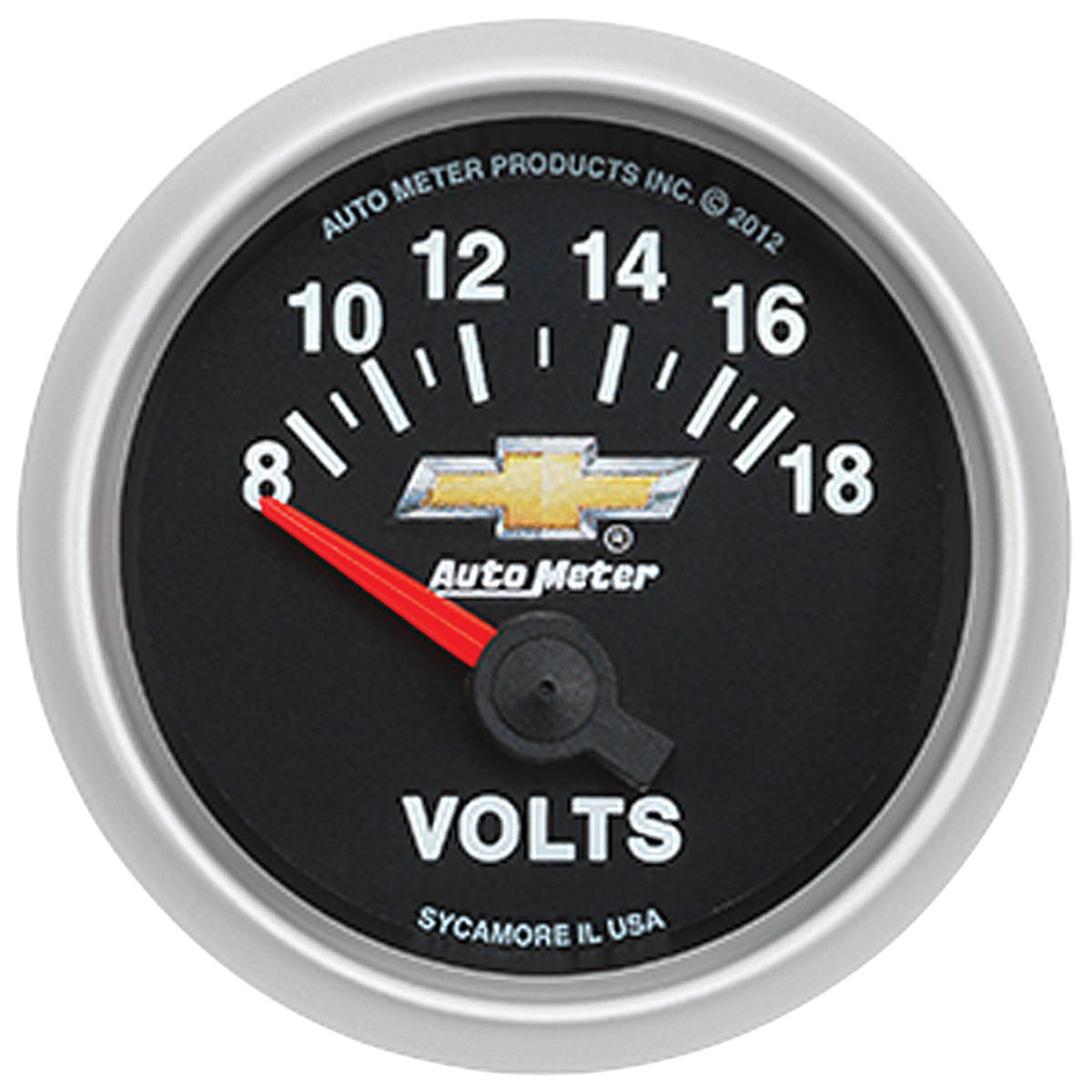 "Photo of El Camino Gauge, COPO Bowtie 2-1/16"" voltmeter, 8-18 volts"