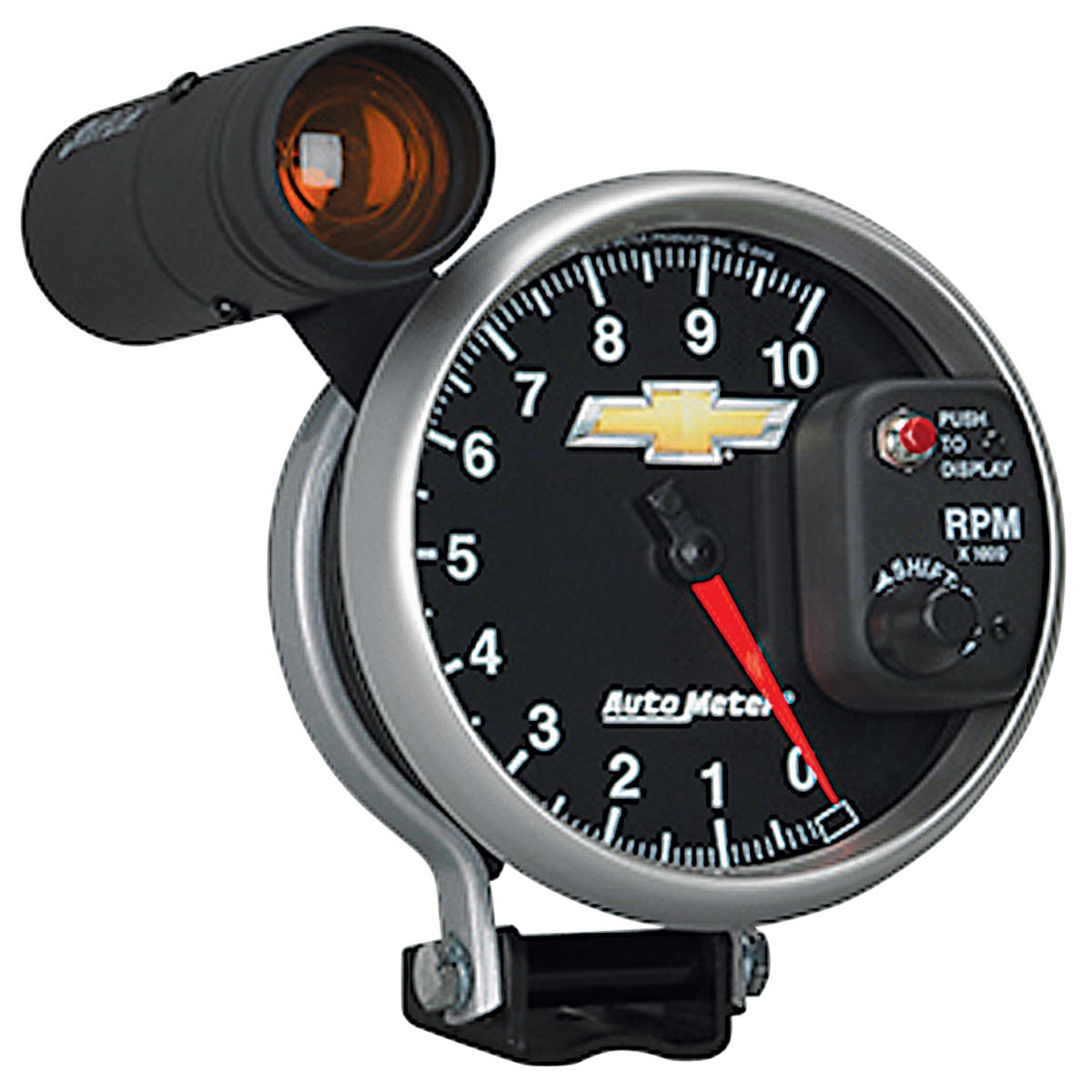 "Photo of Gauge, COPO Bowtie tachometer, 5"", 10000 rpm, Shift Lite"