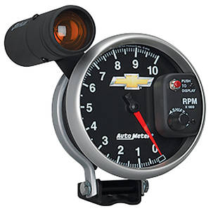 """1964-77 Chevelle Gauge, COPO Bowtie Tachometer, 5"""", 10000 Rpm, Shift Lite"""
