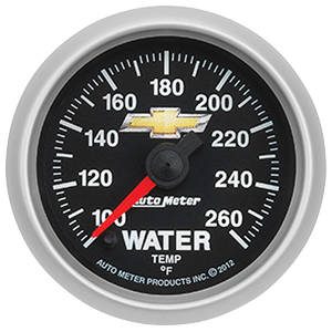 "1978-1983 Malibu Gauge, COPO Bowtie Water Temperature, 2-1/16"", 100-260° F, by Autometer"