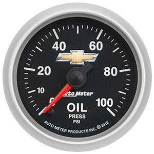 "1978-1983 Malibu Gauge, COPO Bowtie Oil Pressure, 2-1/16"", 0-100 PSI, by Autometer"
