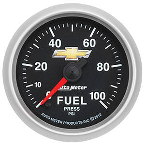 """1978-1988 El Camino Gauge, COPO Bowtie Fuel Pressure, 2-1/16"""", 0-100 PSI, by Autometer"""