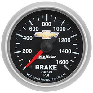 "1978-1988 Monte Carlo Gauge, COPO Bowtie Brake Pressure, 2-1/16"", 0-1600 PSI, by Autometer"