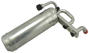 1965-72 LeMans Air Conditioning Muffler Assembly R-134A, w/o-Ring Fittings, by Old Air Products