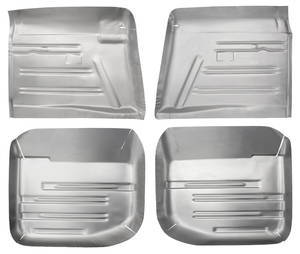 Floor Pan, Steel (1959-60 Bonneville & Catalina) Complete Kit, 4-Piece