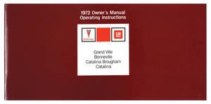 1972-1972 Catalina Owners Manuals, Pontiac Bonneville/Catalina