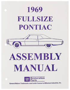 1969-1969 Catalina Factory Assembly Line Manuals Bonneville/Catalina