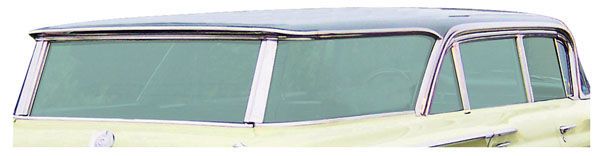 Photo of Quarter Glass Seals, (Bonneville & Catalina) Stationary Rear Large Quarter Window 4-dr. wagon