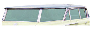 1959-60 Quarter Glass Seals, (Bonneville & Catalina) Stationary Rear Small Vent Window 4-dr. Sedan, by SoffSeal