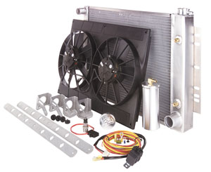 "1978-88 Malibu Cooling Module Assembly, Total 19"" X 28"" X 2"" AT, Satin"