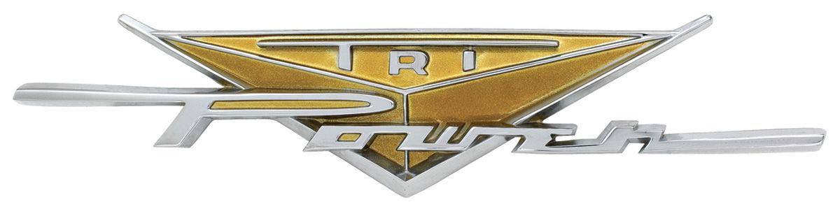 "Photo of Fender Emblem, 1959 Bonneville & Catalina ""Tri-Power"""
