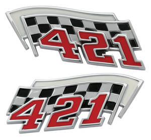 """Grand Prix Fender Emblem, 1962-64 """"421"""""""