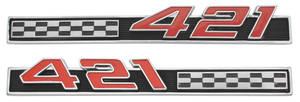 "Bonneville Fender Emblem, 1965 ""421"""