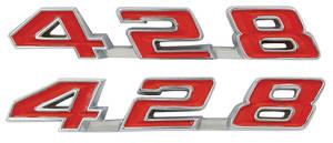 """1969-1969 Grand Prix Fender Emblem, 1969 """"428"""""""