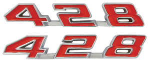 "Bonneville Fender Emblem, 1969 ""428"""