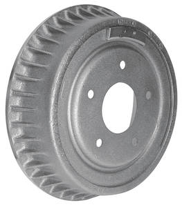 "1964-72 Brake Drum (Cutlass & 4-4-2) Front, 9-1/2"" X 2-1/2"", w/3-1/2"" Height (w/Fins)"