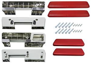 1964 Chevelle Armrest Kits, Complete Front & Rear
