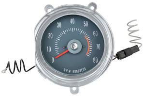 1968-1968 GTO Tachometer (In Dash) RA II, Redline @ 5500