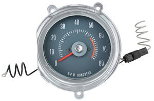 1968 GTO Tachometer (In Dash) RA II, Redline @ 5500
