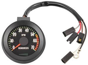1967-1967 El Camino Tachometer, 1967 Original Style 7000 Rpm w/5500 Redline