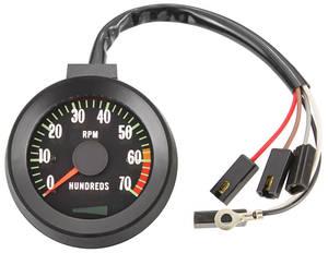 1967-1967 Chevelle Tachometer, 1967 Original Style 7000 Rpm w/6000 Redline