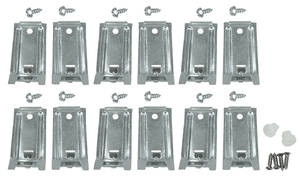 1964-1965 Tempest Rocker Molding Clip Kit 12 Clips (1st Design)