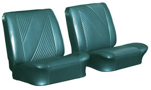 1965-1965 GTO Seat Upholstery, 1965 Reproduction Beaumont Buckets, w/Convertible Rear, by PUI