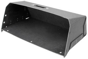 1963-1965 Riviera Glove Box, Interior Black Flock, by Repops