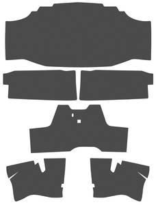 1971-73 Riviera Trunk Mat, Original Style Black Mat, 6-Piece